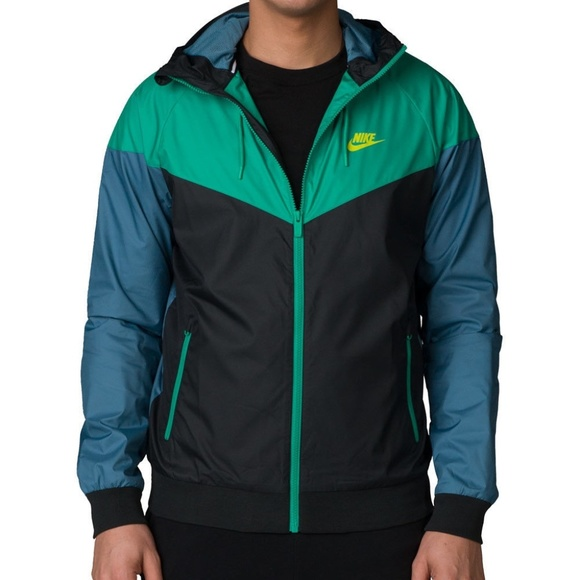 aa319cafe5a1 Nike Windrunner Jacket Black Stadium Green